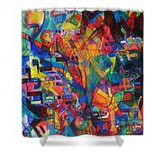 from Sefer Yetzirah the letter Yud Shower Curtain