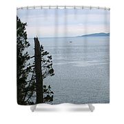 From The Bluff Shower Curtain