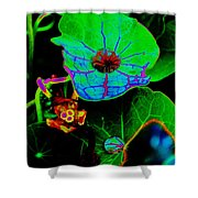 From The Psychedelic Garden Shower Curtain