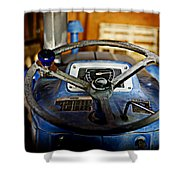From Where I Sit Tractor Shower Curtain