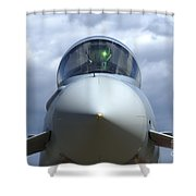 Front View Of A Eurofighter Typhoon Shower Curtain
