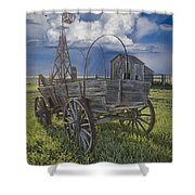 Frontier Farm In 1880 Town Shower Curtain