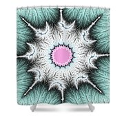 Frost Flower Shower Curtain