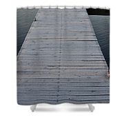 Frosted Dock Shower Curtain