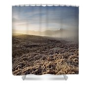 Frosted Fields And Misty Valley Shower Curtain