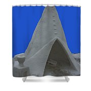 Frosted Tee Pee Shower Curtain