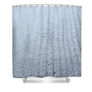 Frosted Woodgrain Shower Curtain