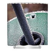 Frosty Metal Shower Curtain