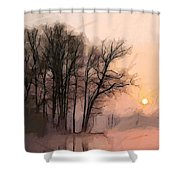 Frosty Morning At The Lake Shower Curtain
