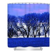 Frosty Trees Shower Curtain