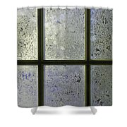 Frosty Window Pane Shower Curtain