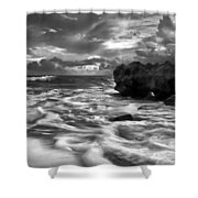 Frothy Seas Shower Curtain