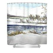 Frozen Shower Curtain