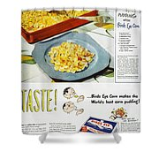 Frozen Food Ad, 1947 Shower Curtain
