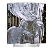 Frozen Hearts Melt With Love Shower Curtain
