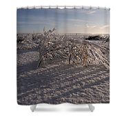 Frozen Riviere Des Mille Iles - Qc Shower Curtain