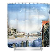 Frozen Shadows On The Grand Shower Curtain