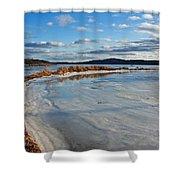 Frozen Shoreline Shower Curtain