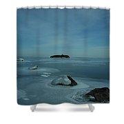 Frozen Solid Shower Curtain