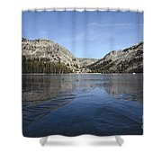 Frozen Tenaya Lake Shower Curtain