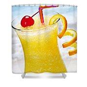 Frozen Tropical Orange Drink Shower Curtain