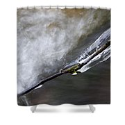 Frozen Twig Shower Curtain