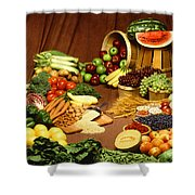Fruit And Grain Food Group Shower Curtain