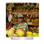 Fruit Market Stand Shower Curtain by Heiko Koehrer-Wagner