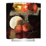 Fruit Of Renaissance Period Shower Curtain