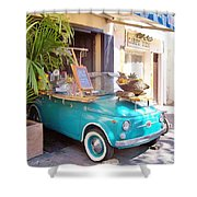 Fruit Stand In Collioure France Shower Curtain