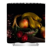 Fruit Still Life With Wine Shower Curtain