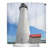 Ft Gratiot Lighthouse Shower Curtain