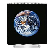 Full Earth From Space Shower Curtain