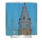 Full Moon And Billy Penn Shower Curtain