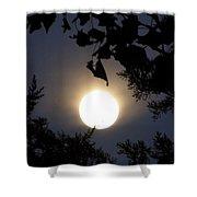 Full Moon Late Night Spain  Shower Curtain