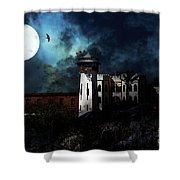 Full Moon Over Hard Time - San Quentin California State Prison - 7d18546 Shower Curtain