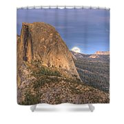 Full Moon Rise Behind Half Dome 2 Shower Curtain