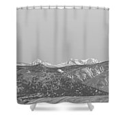 Full Moon Setting Over The Co Rocky Mountains Bw Shower Curtain