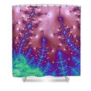Full Moon Snow 5 Shower Curtain