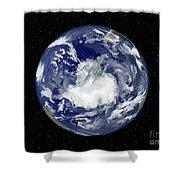 Fully Lit Full Disk Image Centered Shower Curtain by Stocktrek Images