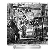 Fulton Fish Market, 1870 Shower Curtain