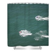 Fun On The Pond Shower Curtain by Thomas Woolworth