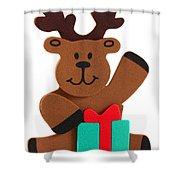 Fun Reindeer Sitting Shower Curtain
