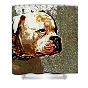 Funky Bulldog Shower Curtain