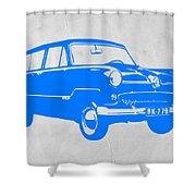 Funny Car Shower Curtain by Naxart Studio