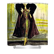 Fur Collar Shower Curtain