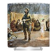 Fur Trader Shower Curtain