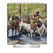 Fur Trapper Shower Curtain