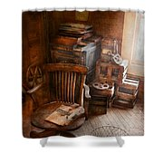 Furniture - Chair - The Engineers Office Shower Curtain