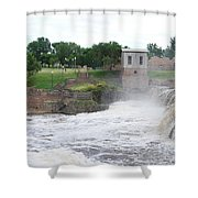 Fury Of The Falls Shower Curtain